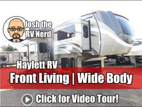 2018 Pinnacle 38flws Front Living Windshield Luxury Fifth Wheel By Jayco Rv Youtube In 2020 Jayco Jayco Rv Wide Body