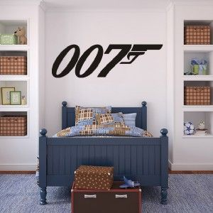 Silhouette james bond and wall stickers on pinterest for 007 decoration ideas