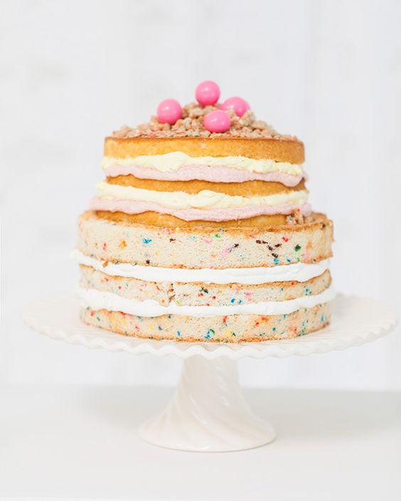 naked confetti cake inspiration