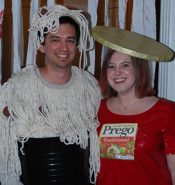 Spaghetti couples costume pregnancy Pinterest We, Sauces and - pregnant couple halloween costume ideas