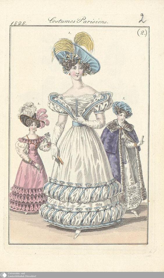 5 - (2.) Costumes Parisiens. - Petit courrier des dames - Seite - Digitale Sammlungen - Digitale Sammlungen