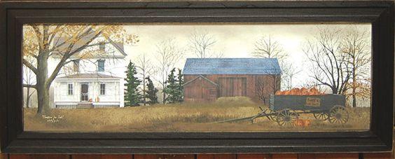 Pumpkins Farm Framed Print