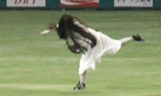 Ceremonial first pitch of Sadako