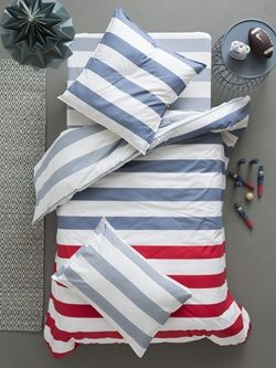 "Bettbezug ""Streifen - Blau"""