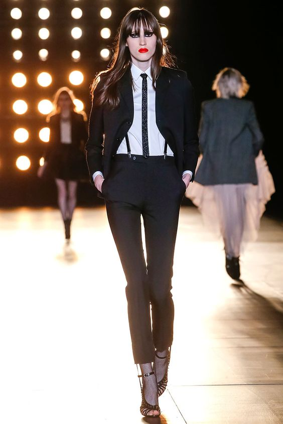 Rocker glam girl Saint Laurent - Pasarela otoño invierno 2015.