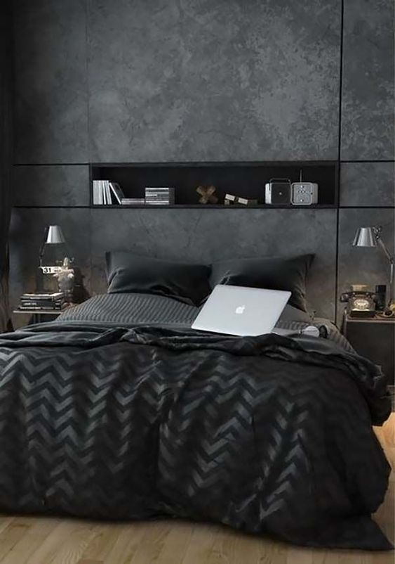 Masculine Bedroom Design Ideas-41-1 Kindesign