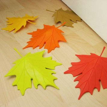 Autumn Leaf Door Stopper Red