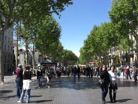 El Paseo de las Ramblas , Barcelona ,Spain