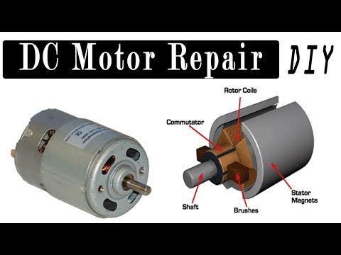 Dc Motor Repair How To Repair Dc Motor 6v 9v 12v 24 Volt Youtube Repair Diy Electrical Motor