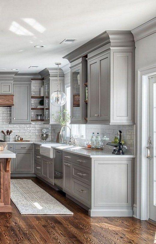 White Gray Kitchen Decorating Ideas In 2020 Kitchen Renovation Cost Kitchen Cabinet Design Farmhouse Style Kitchen