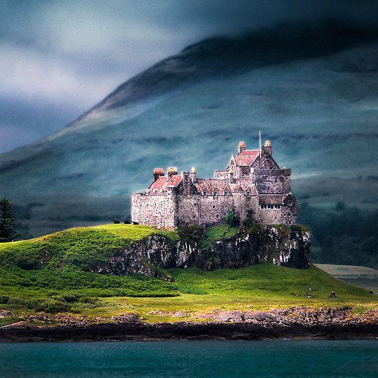 Duart Castle, on the island of Mull, Scotland