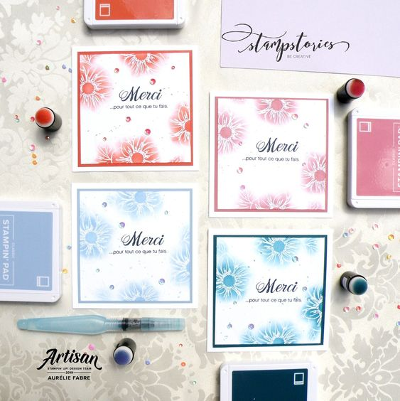 Blog Hop Stampstories - Clean & Simple | Floral Essence