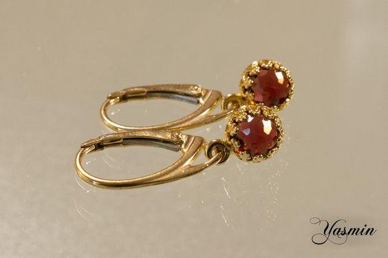 ♥Maharani♥ mit Granat vergoldet von Yasmin auf DaWanda.com