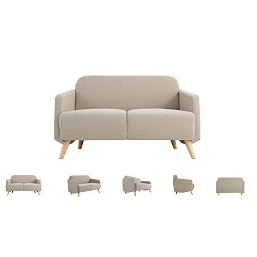 Kemanduo Modern Sofa Small Space Configurable Sofa Breathable Soft Comfortable White Sofas For Small Spaces Modern Sofa Small Sofa