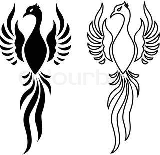 Grafiken von 'Phönix, bird, tattoo'