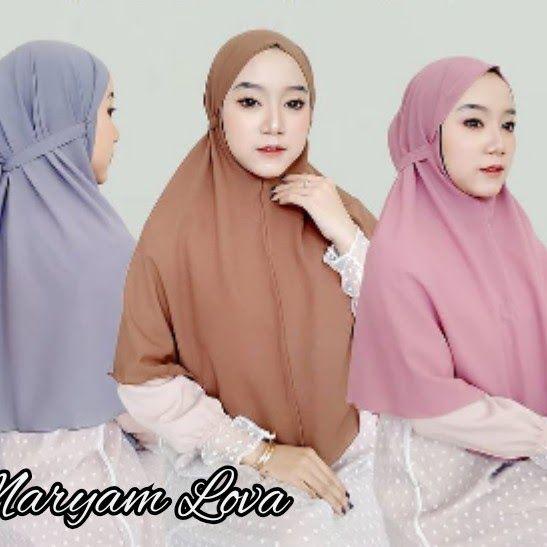 Jilbab Bergo Maryam Instan Polos Cantik Banyak Warna Piyama Model