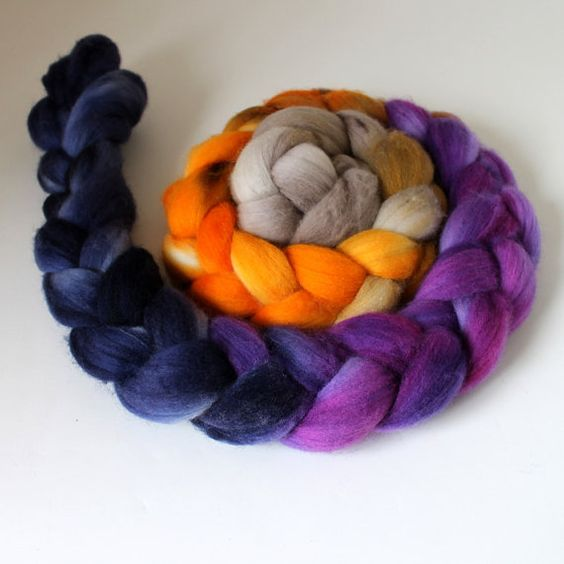 Handpainted Polwarth Wool Top - 4ozs - THE CLUB by Spun Right Round
