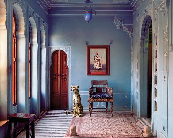 """The Maharaja's Apartment, Udaipur City Palace, Udaipur,"" © Karen Knorr Indian Song courtesy of Tasveer, exhibition in partnership with Vacheron Constantin, ᔥ NYTimes T Magazine"