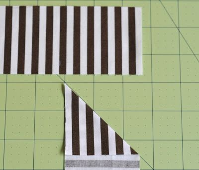 The Sewing Chick: Mini Tutorial - Sewing Striped Bindings