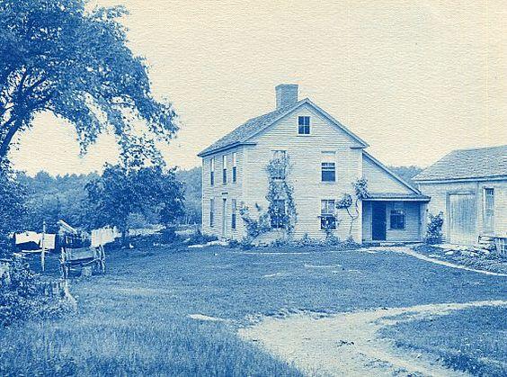 Henry M. Wheeler. Willard (the clockmaker) House, Grafton. Cyanotype print. Ca. 1890s.