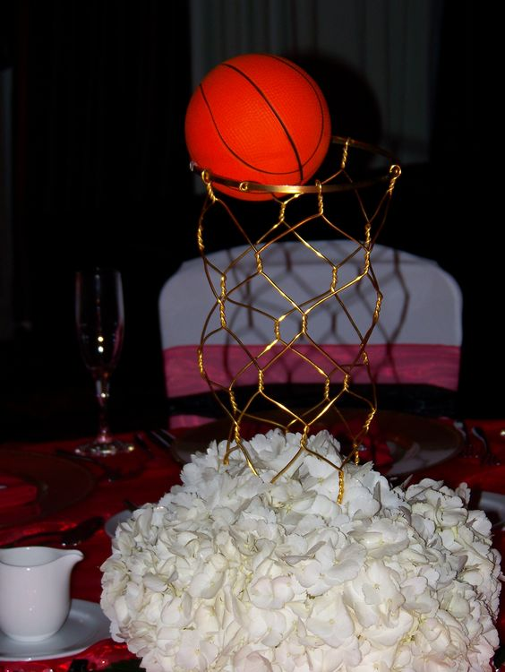 Basketball theme centerpiece party ideas pinterest