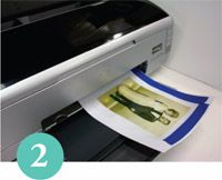 GOLDEN: Painting the Printed Image - more acrylic skin printing