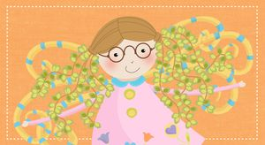 Wall Art for Children - Lana the Spring Bluét from Julie Bluet - Kid's Wall Art  www.juliebluet.com