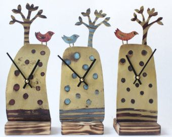Quirky etched clocks works of art