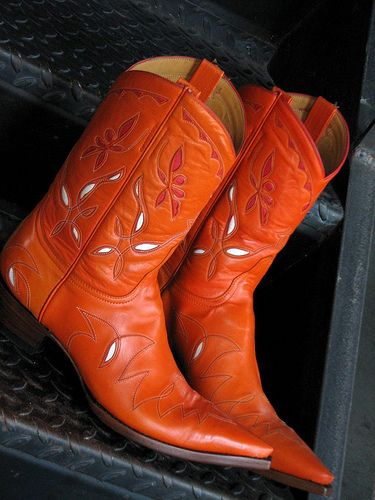 Westerns, Boots and Orange on Pinterest