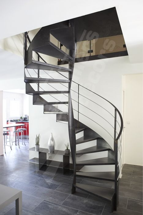 Dh99 spir 39 d co flamme escalier balanc d 39 int rieur m tallique des - Photo d escalier d interieur ...