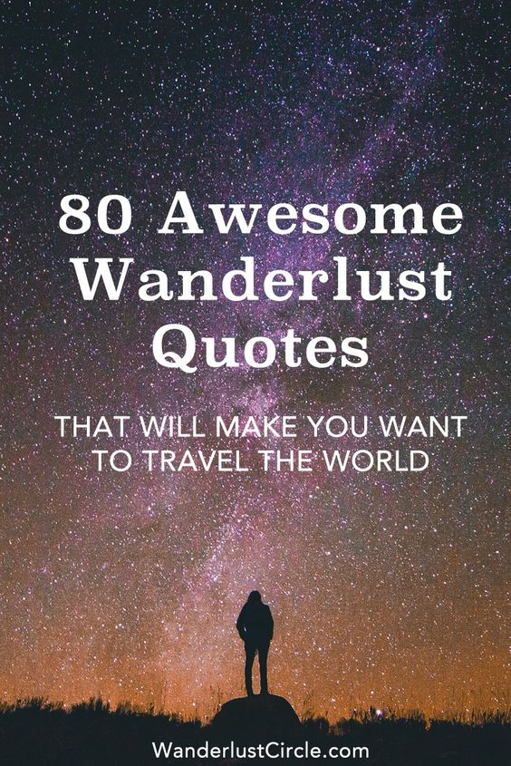 Wanderlust Quotes About Traveling | Words to Travel By ...