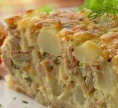 tarte de batata e atum
