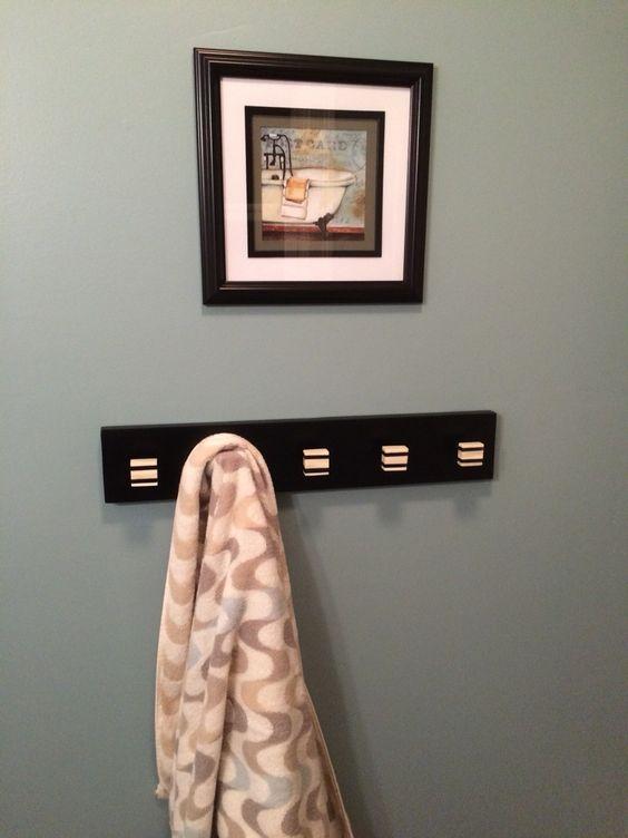 Bathroom Towel Rack With Sherwin Williams Aqua Sphere Perfect Paint Color Hallway Paint Room Inspiration