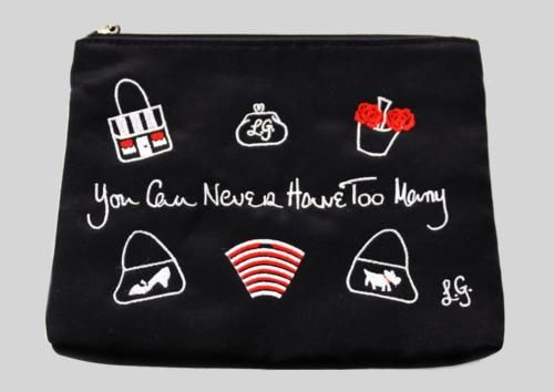 LULU-GUINESS-YOU-CAN-NEVER-HAVE-TOO-MANY-BLACK-SATIN-MAKE-UP-BAG-NWOT
