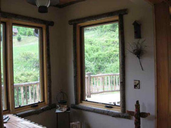 Window Trims Rustic Windows And House Trim On Pinterest