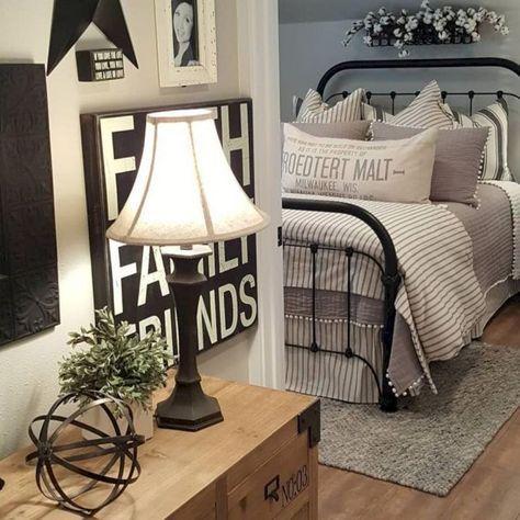 Admirable Farmhouse Master Bedroom Decorating Ideas Farmhouse Style Bedroom Decor Home Decor Bedroom Master Bedrooms Decor