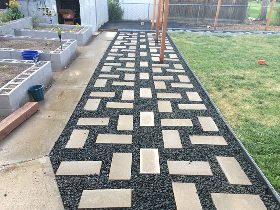 My paver design feature.