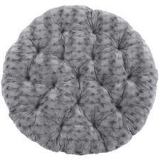 Papasan Cushion -  Fuzzy Charcoal