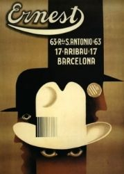 Art Deco Men's Hat Advertisement, Rare@
