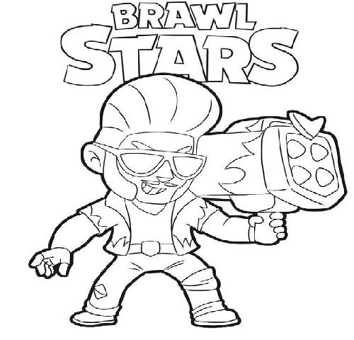 Brawl Stars Star Coloring Pages Coloring Pages Monster Truck Coloring Pages