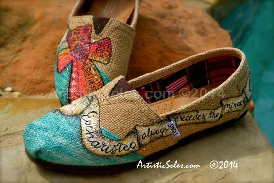 Eucharisteo Theme Custom TOMS Shoes - ADULT - Burlap:
