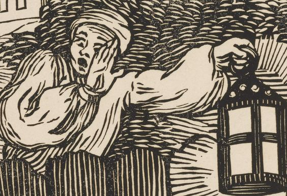 """Detail of """"Cruelty in Perfection"""" from the series The Four Stages of Cruelty, 1750, J. Bell under the supervision of William Hogarth, woodcut print.  NYPL's Print Collection in the Wallach Division holds a near-complete collection of Hogarth's prints, and now they're being digitized."""