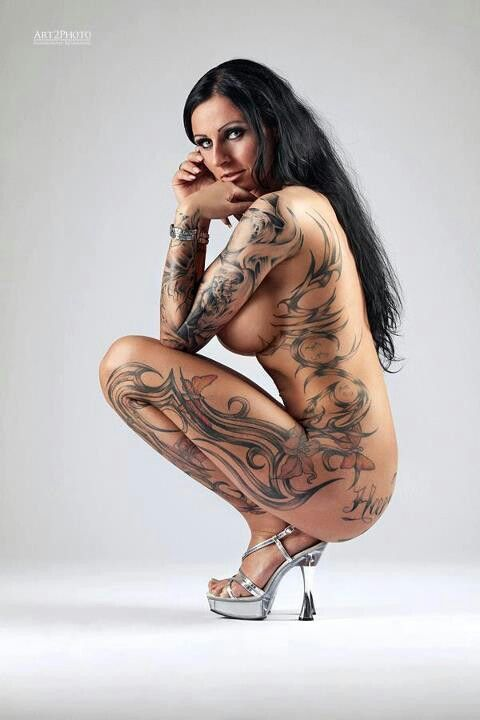 naked girls with tattoos from behind