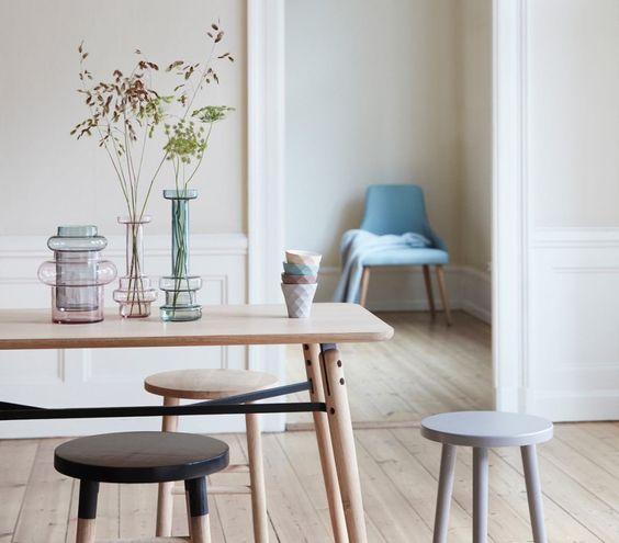Esszimmer idee mit getönten vasen / dining idea with tinted vases ...