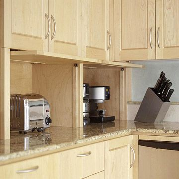 Appliance garage countertops and small kitchens on pinterest for Small kitchen in garage