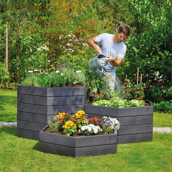 Garantia Ergo Hochbeet System Durchmesser 110xh 25 Cm Raised Garden Raised Garden Beds Modular Raised Garden Beds