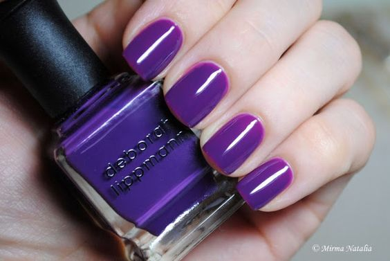 Deborah Lippmann Call Me Irresponsible.  Purple jelly.  Swatched on nail wheel.  In Box.  $10 shipped.  Nidia Doherty