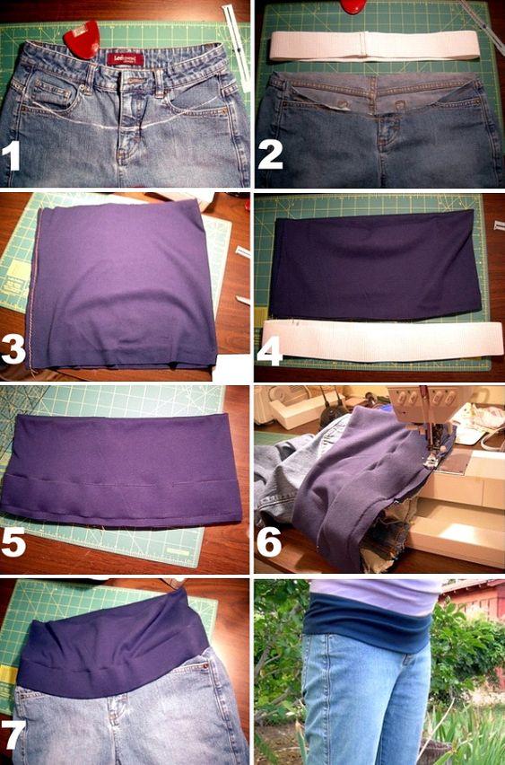 Blog de casinhadoliedasi : CASINHA DO LI E DA SI, Customizando calça jeans para gestantes: