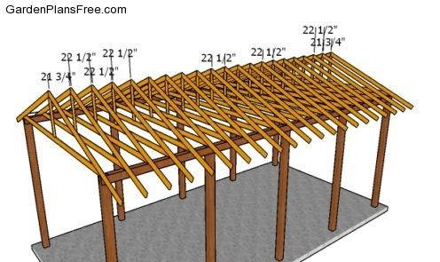 20x40 Rv Carport Plans Free Pdf Download Free Garden Plans How To Build Garden Projects In 2020 Rv Carports Carport Plans Wooden Carports