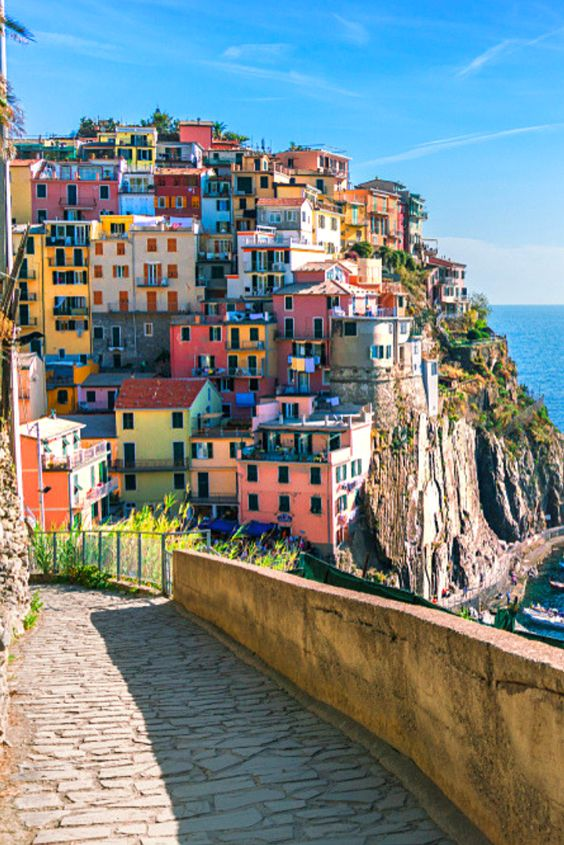 Cinque Terre ('Five Lands') are the most beautiful of the Italian villages
